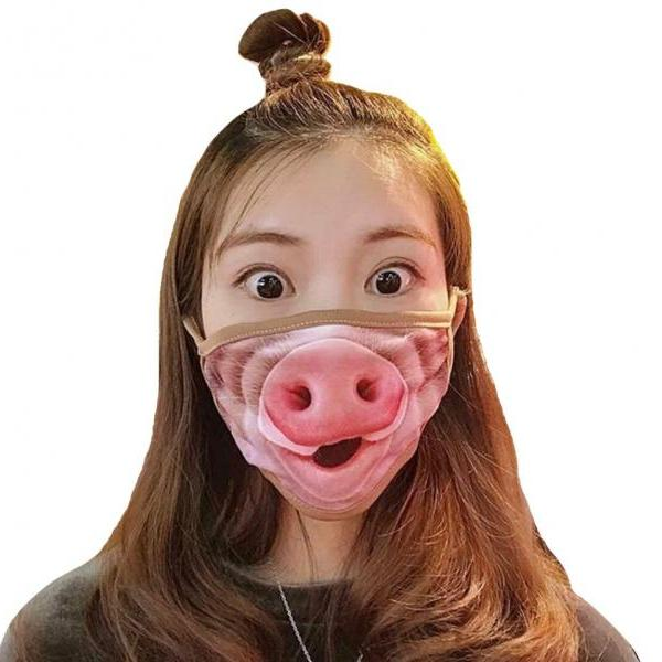 Kawaii Clothing Mask Facial Mouth Face Pig Cartoon Funny Animal WH522